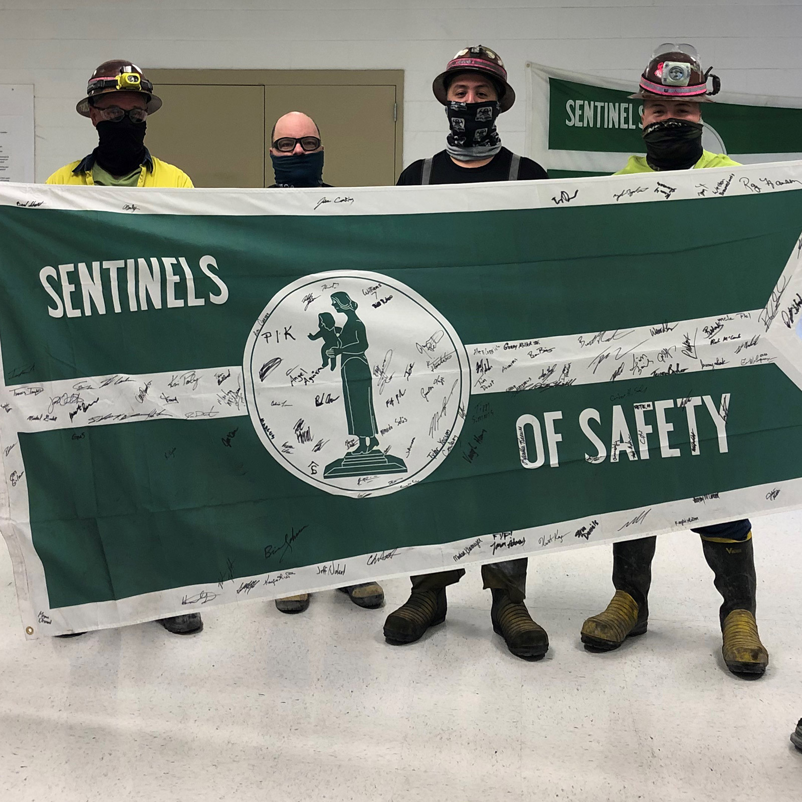 The Cortez team celebrates winning the Nevada Mining Association's 2020 Sentinels of Safety Award.