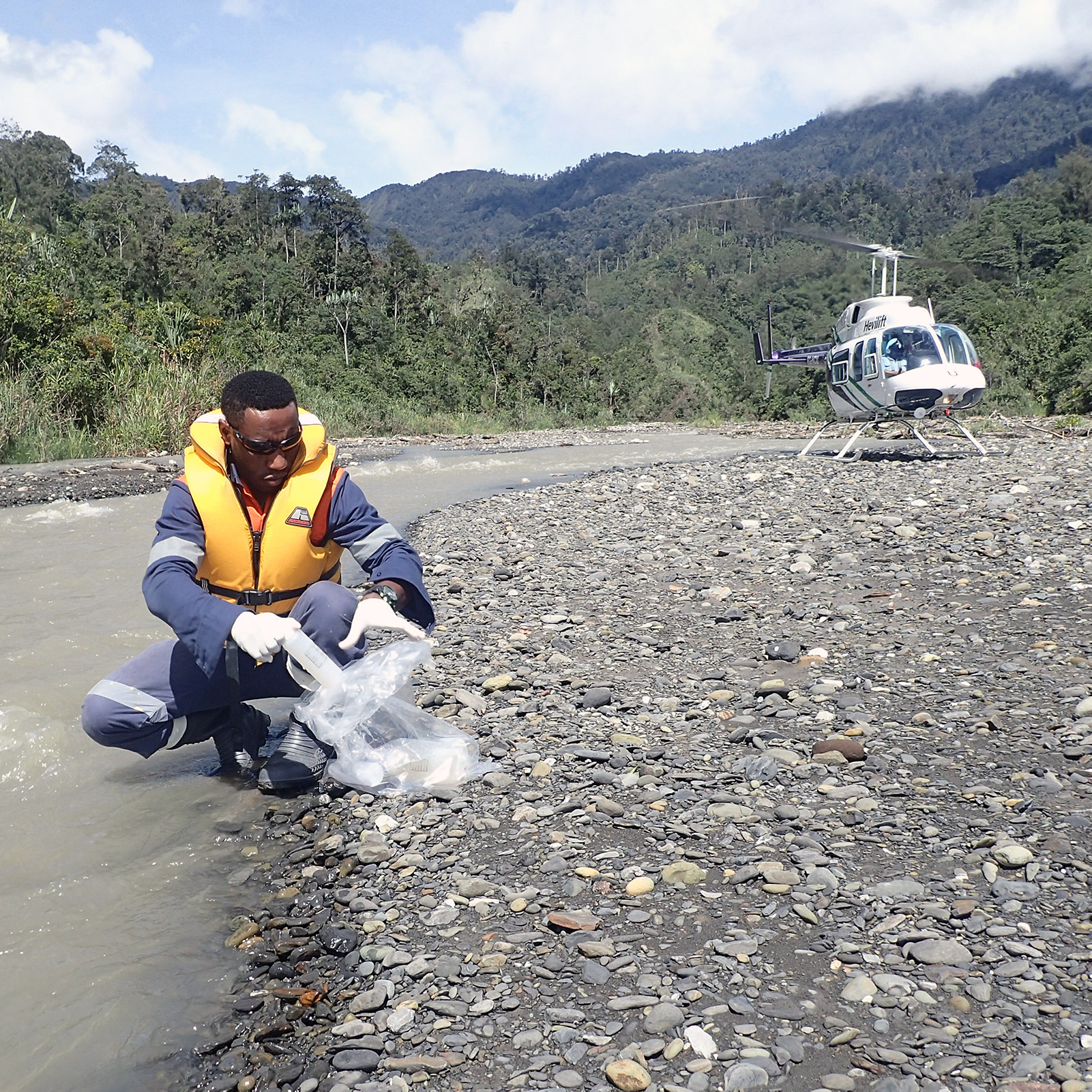 Downstream monitoring along the Porgera and Lagaip Rivers in Papua New Guinea. Sustainability is entrenched in Barrick's DNA, meaning that the day-to-day ownership of sustainability risks and opportunities is in the hands of our individual sites.