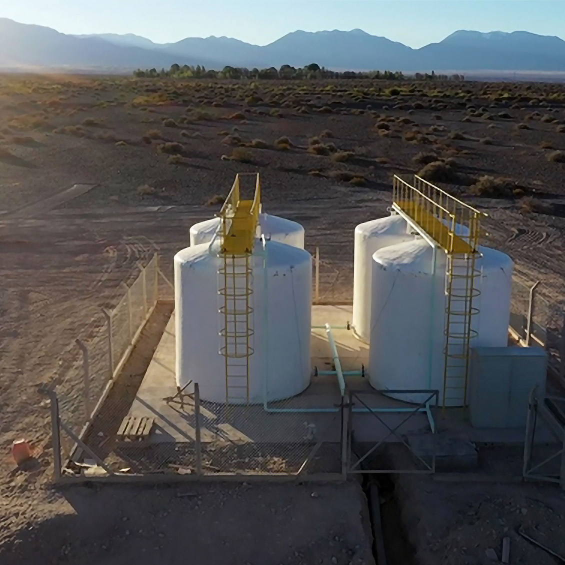 The Las Flores drinking water plant in Argentina was opened in May 2020 to improve access to water for the communities near the Veladero gold mine.