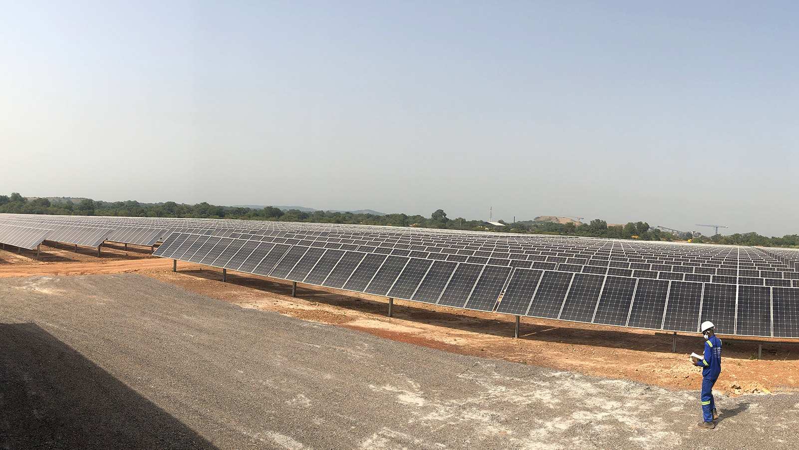The recently contructed solar power plant at the Loulo gold mine in Mali produces 20MW of power.