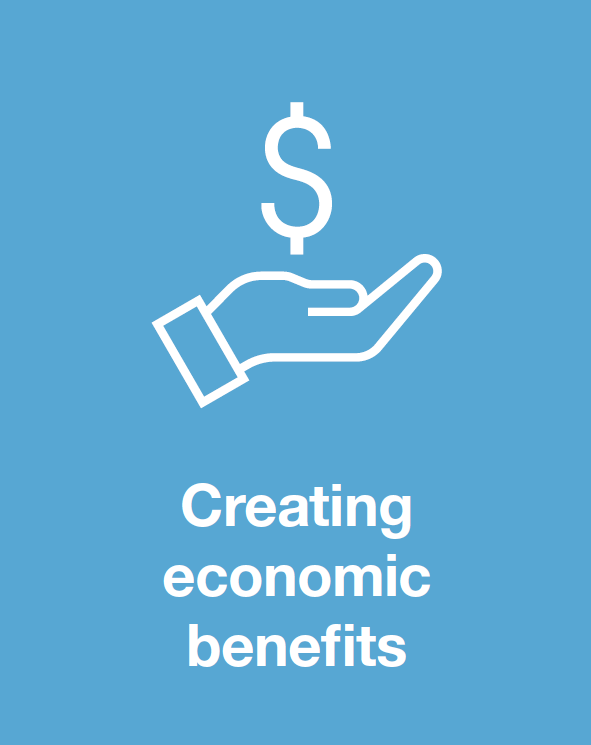 Creating economic benefits