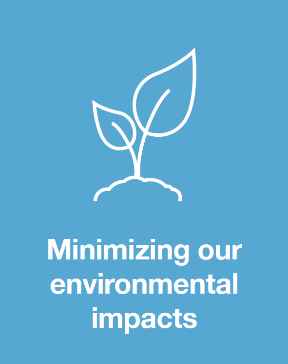 Minimizing our environmental impacts